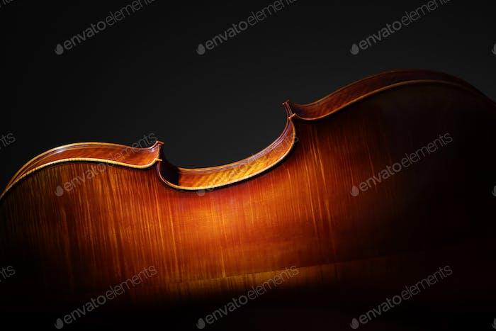 Cello back silhouette