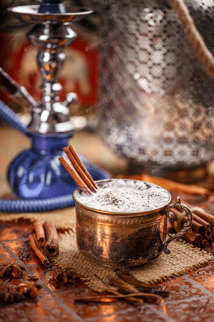Chai latte, oriental sweet drink