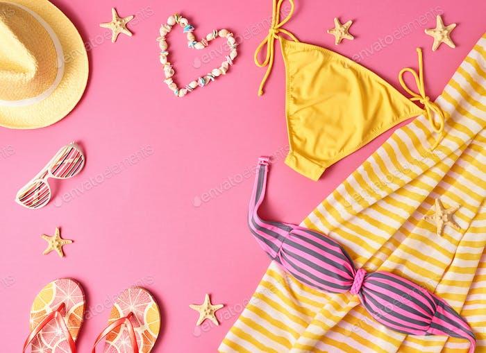 Fashion Summer clothes Bikini set. Beach Outfit