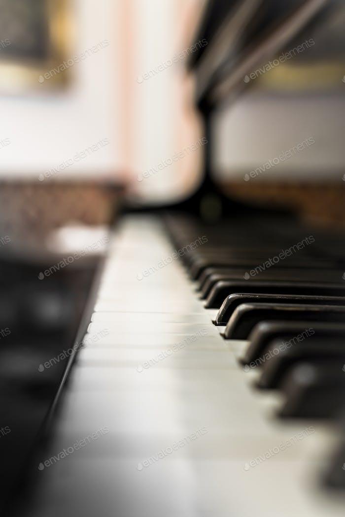 Alte Klaviertastatur