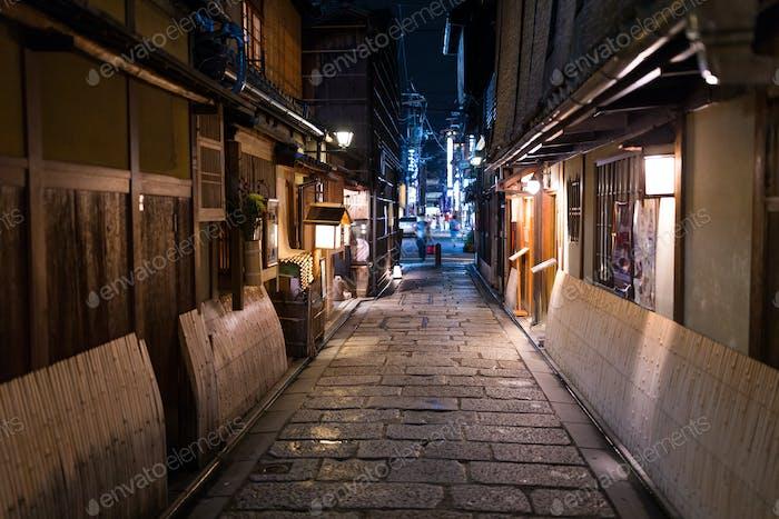 Kyoto old town at night
