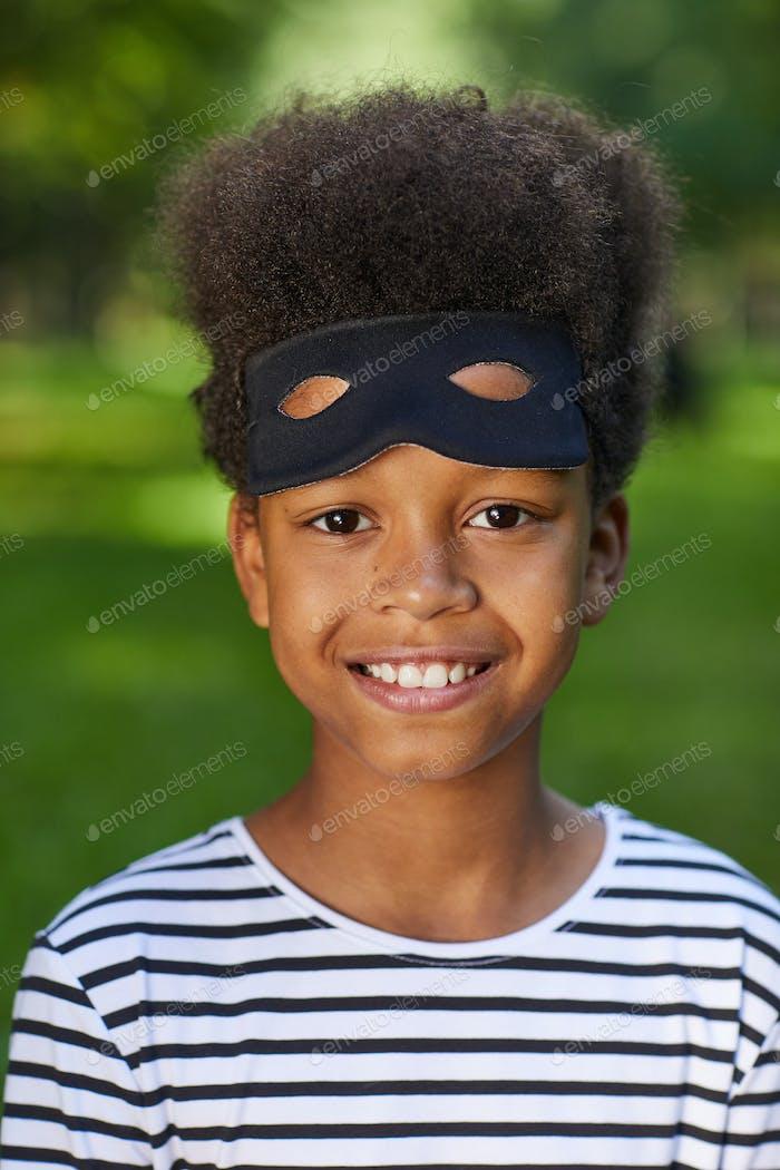 Little Bandit on Halloween