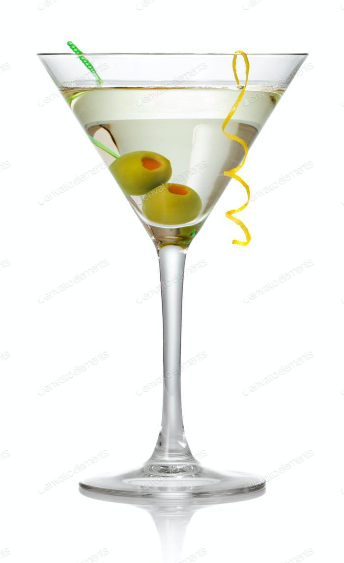 Olive Martini Cocktail