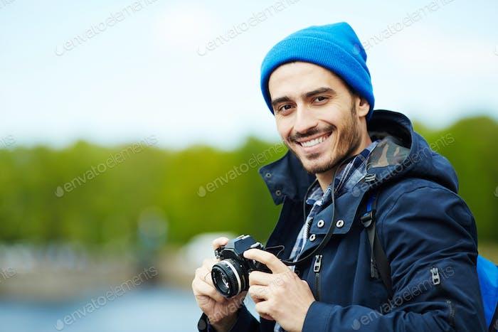 Traveling blogger