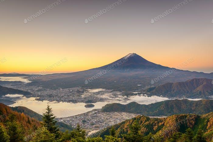 Mt. Fuji, Japan over Kawaguchi Lake