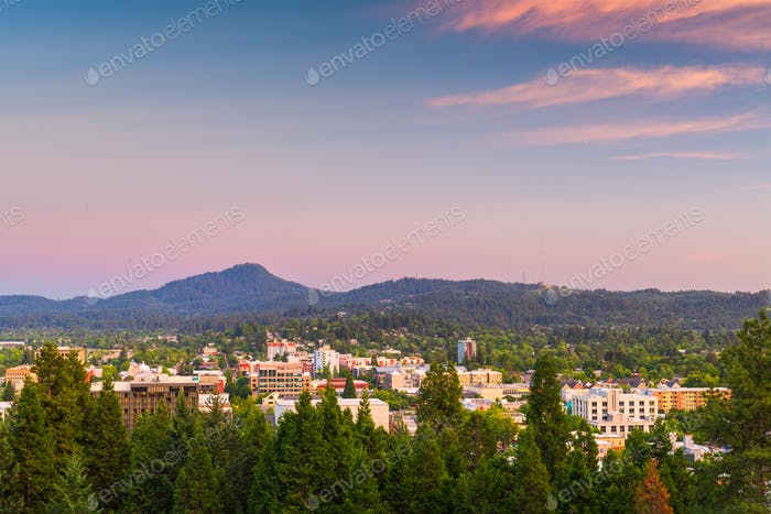 Eugene, Oregon, USA Skyline