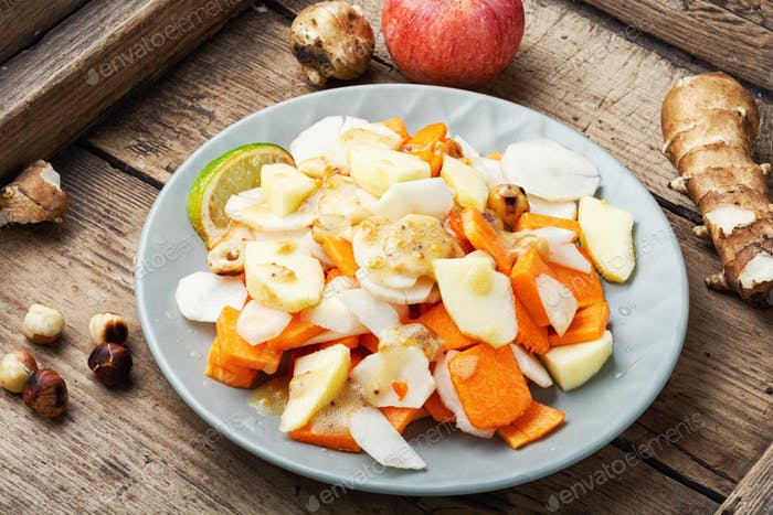 Vitamin salad with vegetables and fruits