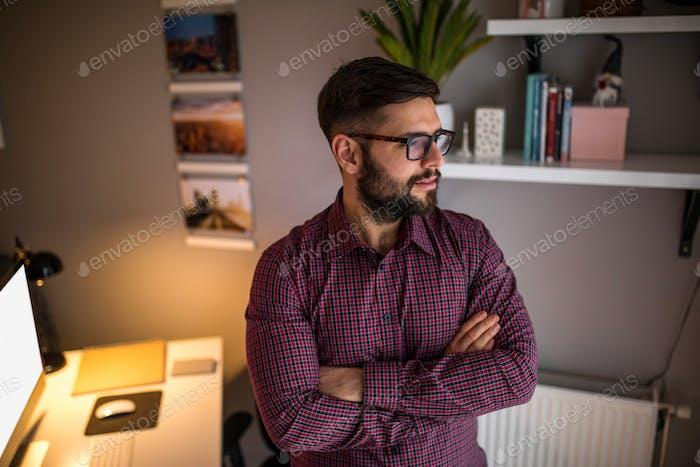 Young male entrepreneur