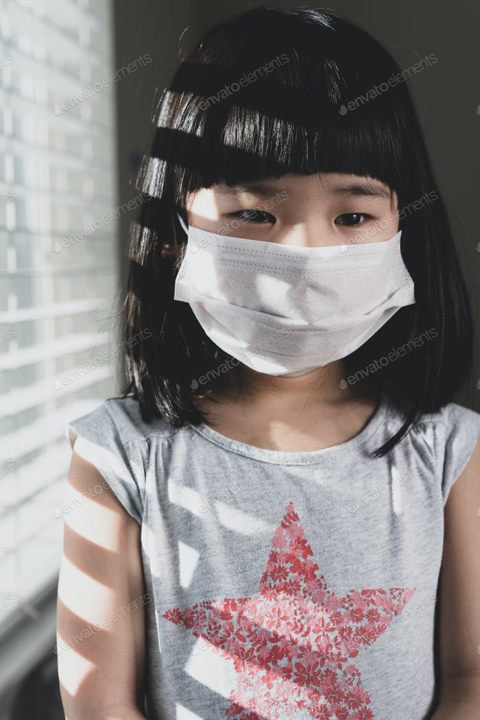 Coronavirus, Covid-19 or air pollution concept