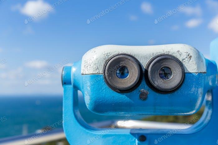 Coin operated binoculars at seaside