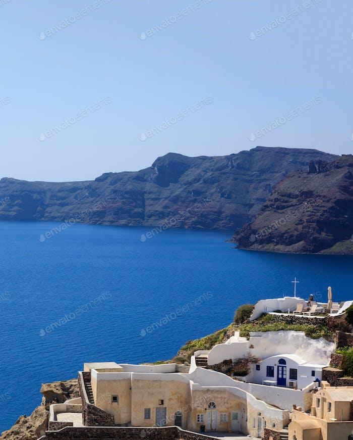 Santorini island, Griechenland - Caldera über die Ägäis