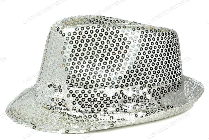 A Silver Sequin Hat