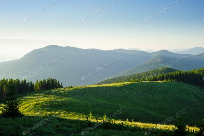 morning in Mountains