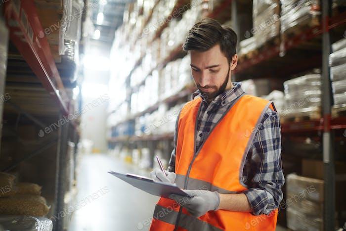Work in warehouse