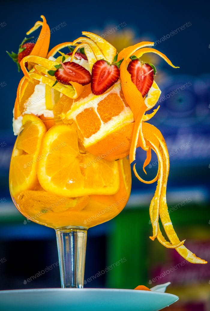 Sommer Obst coctail