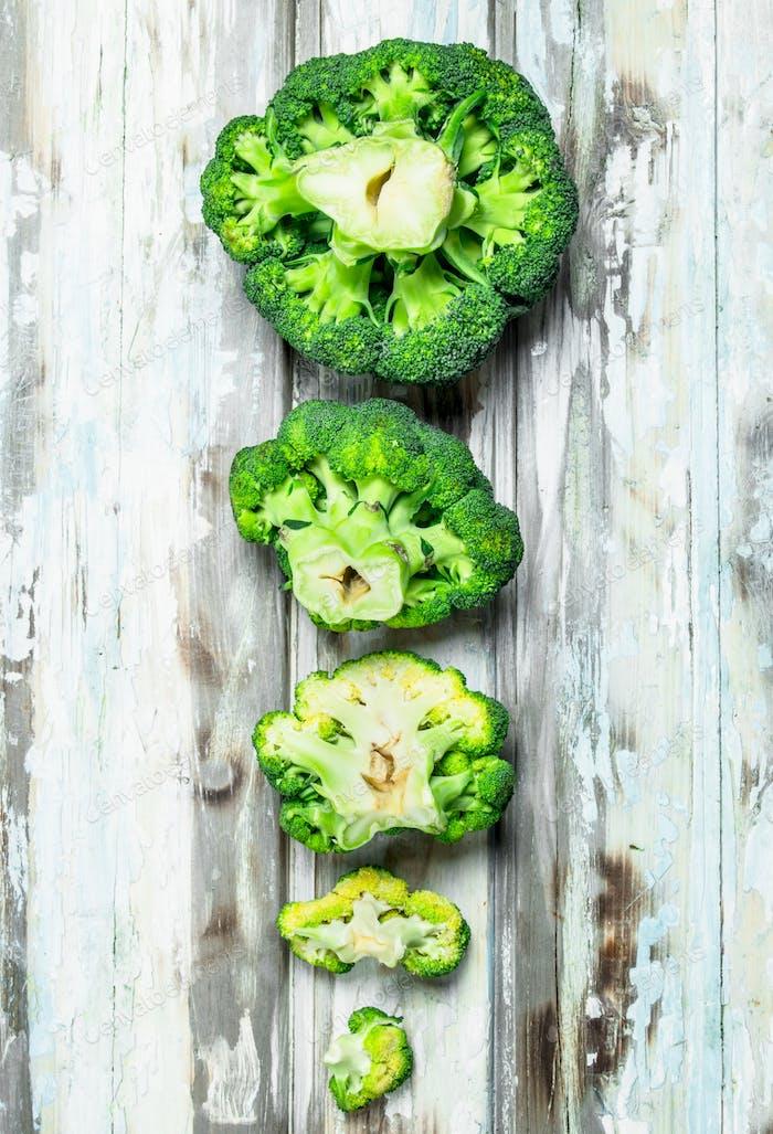 Viele frische Brokkoli.