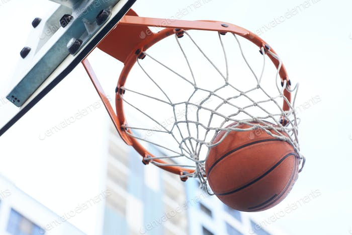 Basketball Hoop Closeup