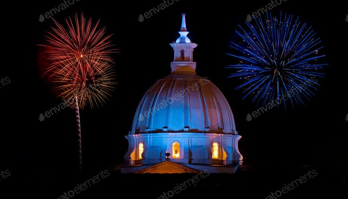 Cathedral and Fireworks