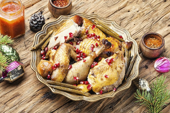Traditional christmas chicken