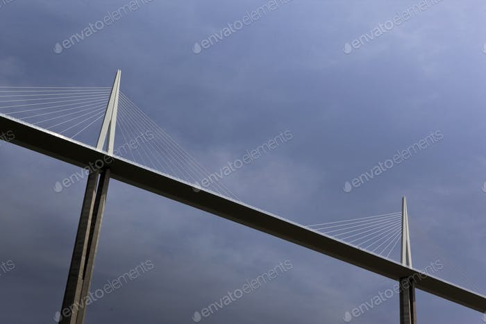 Modern architecture and sky on background
