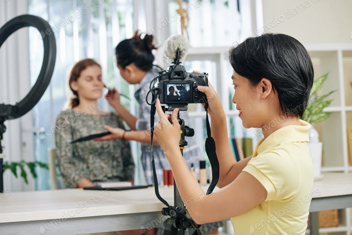 Make-up video shooting