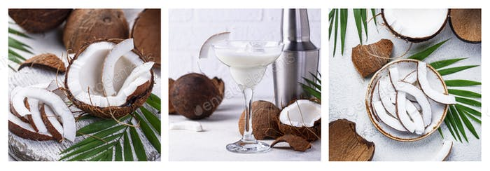 Kokosnuss Margarita Cocktail Tropisches Getränk