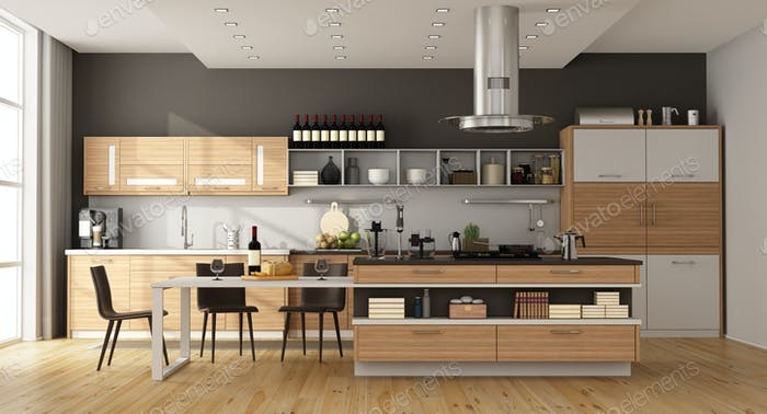 Thumbnail for Contemporary kitchen with island