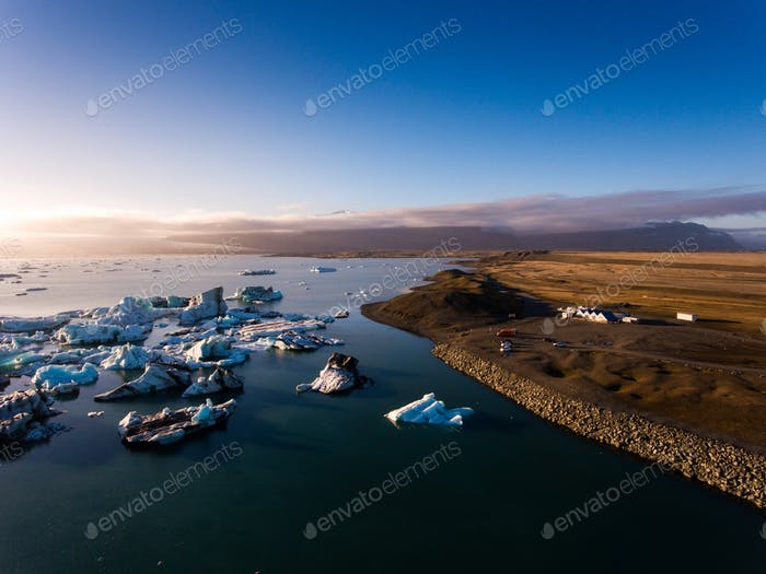 Beautifull view of Jokulsarlon lagoon, Iceland