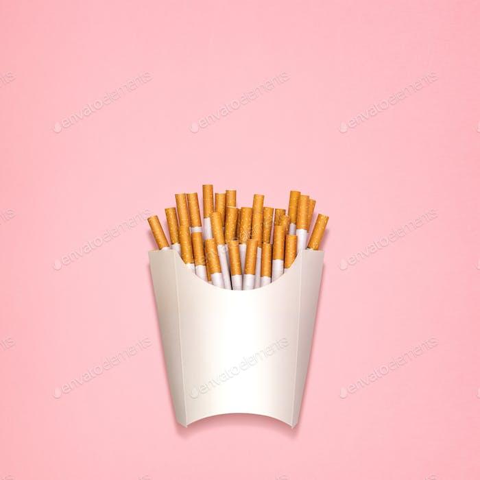 Gebratene Zigaretten.