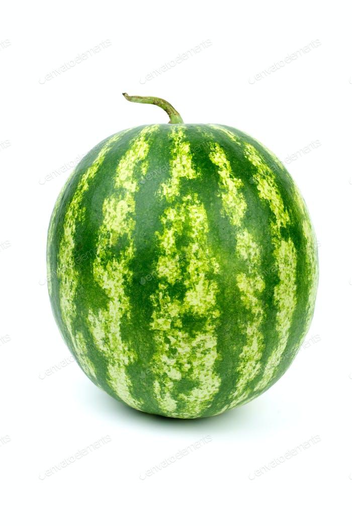 Stripy green watermelon