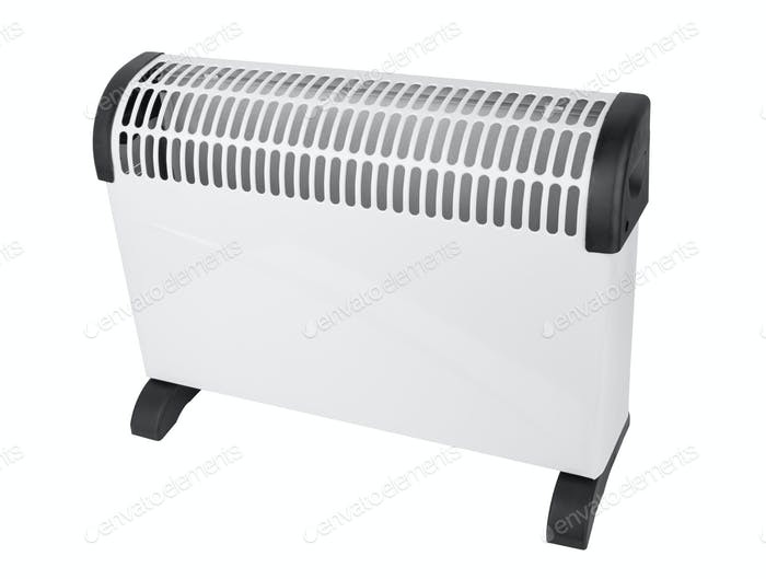 Electric convector isolated on a white background