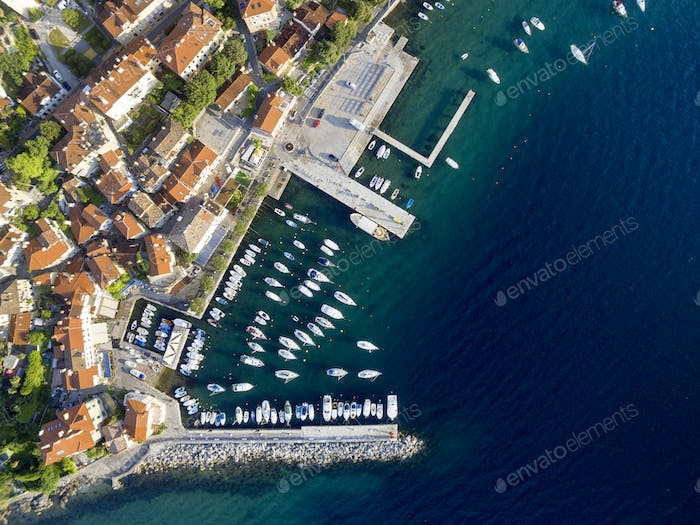 Sea port Aerial view