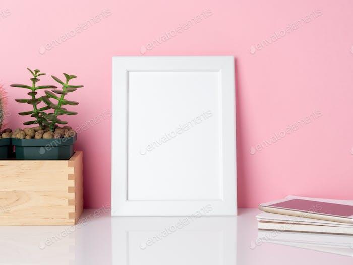 Blank white frame