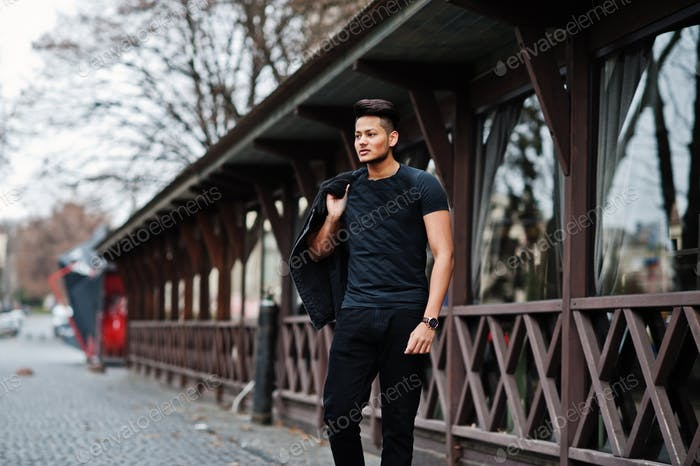 Handsome and fashionable asian man