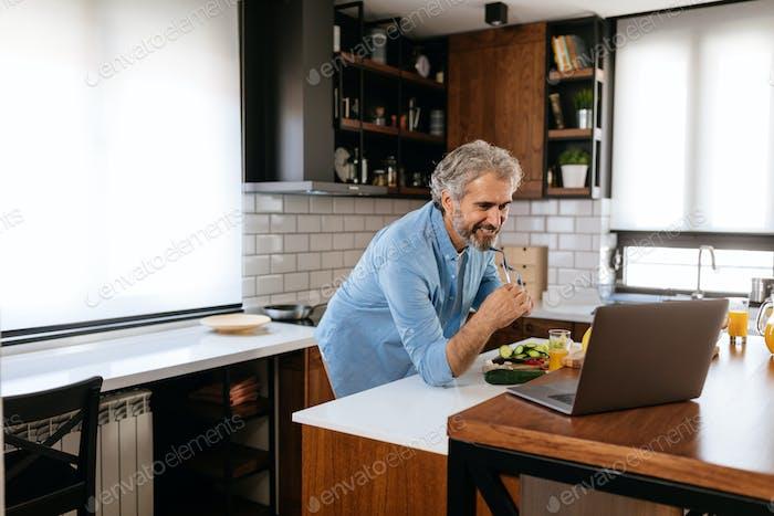 Digitizing his cooking