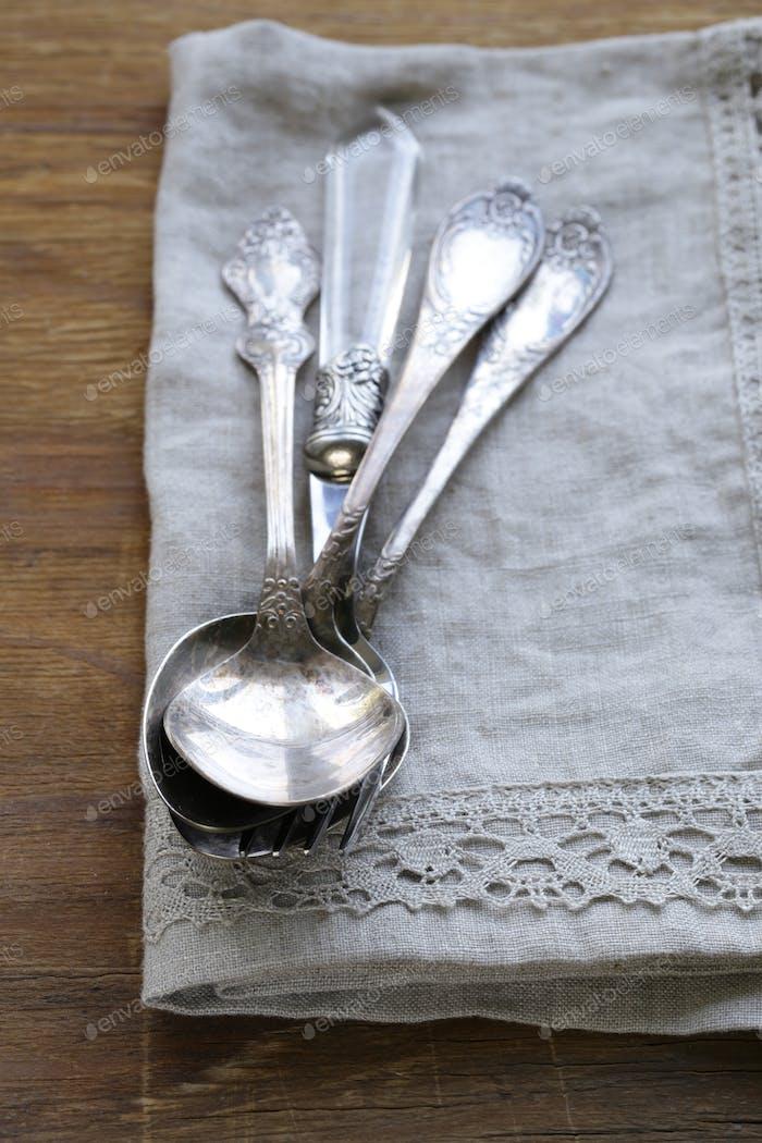 Vintage Silber Besteck