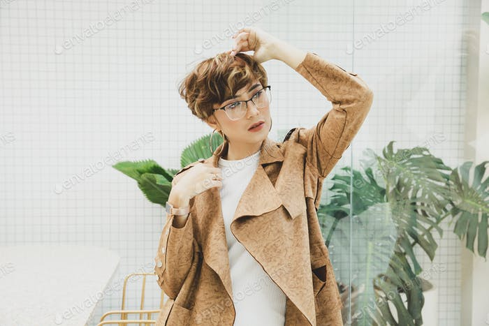 Glamour mujer asiática