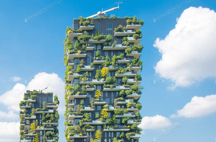 Construction Vertical gardens Milan