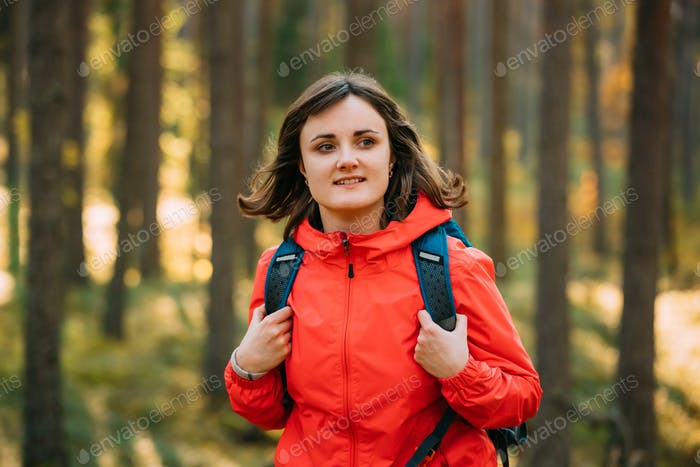 Portrait Of Active Young Adult Beautiful Caucasian Girl Woman Dr