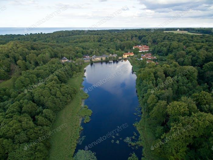 Aerial view of Raadvad, Denmark