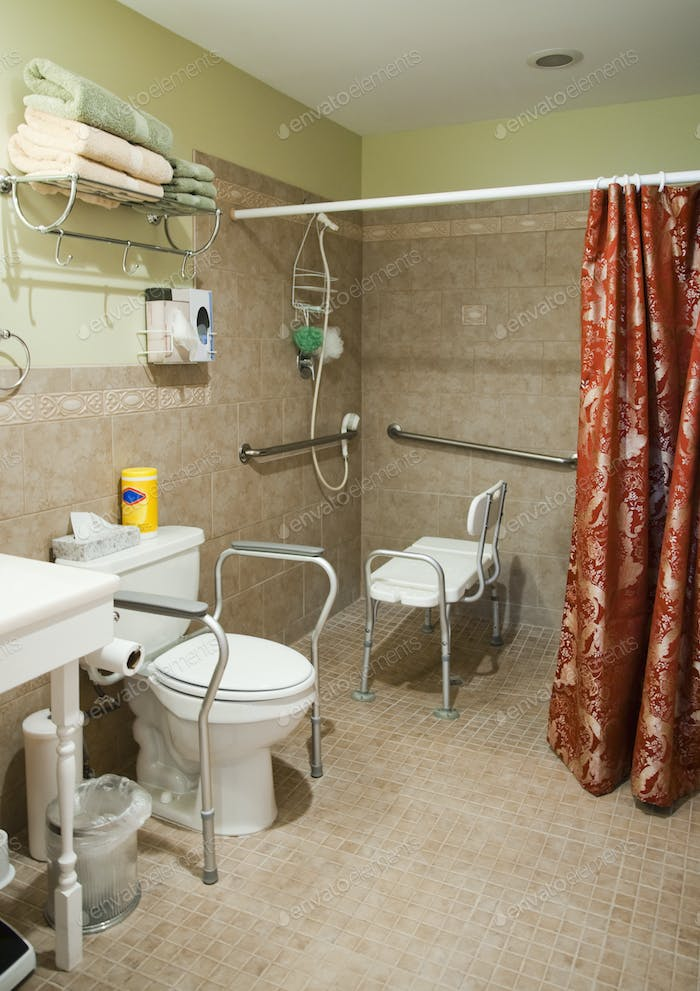 Handicapped-Accessible Bathroom