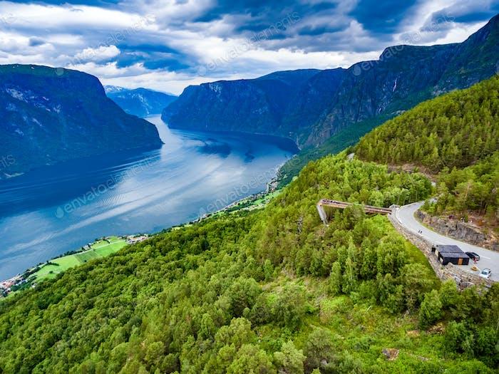 Stegastein Lookout Beautiful Nature Norway.