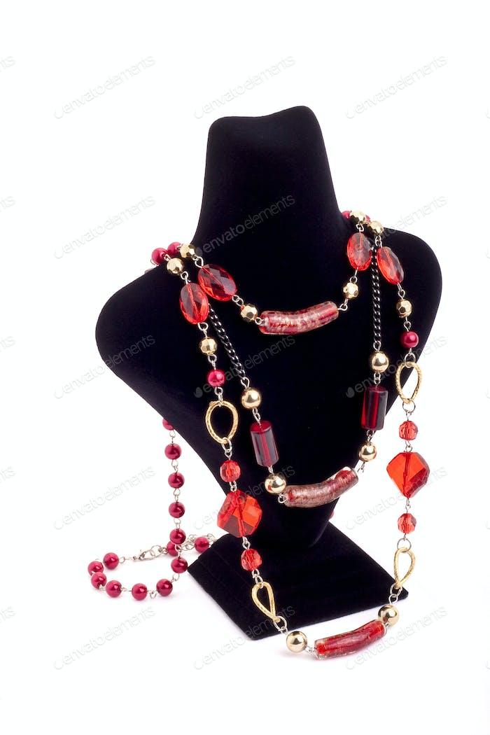 Elegent necklace on mannequin