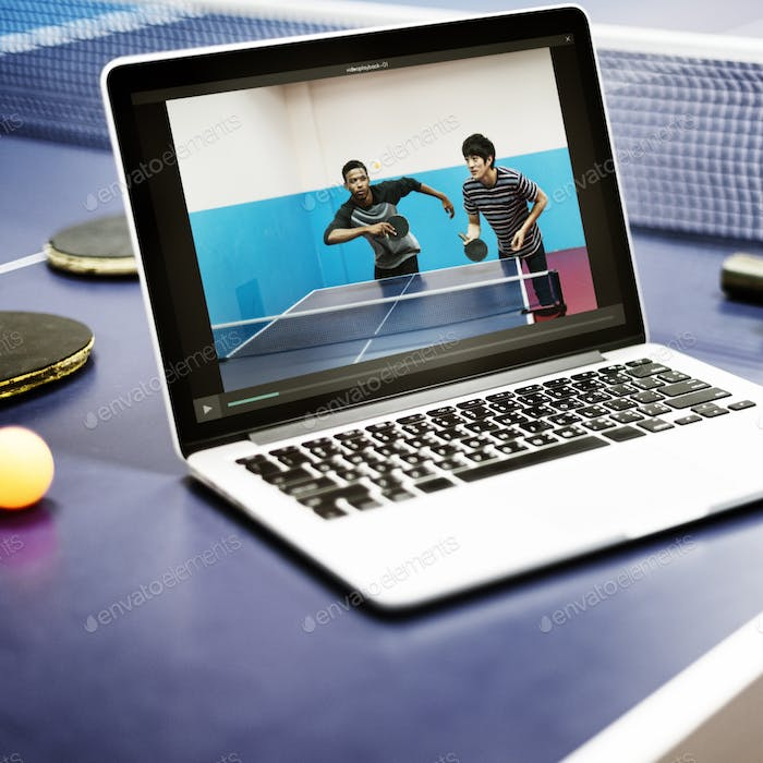 Table Tennis Ping-Pong Sport Video Tutorial Concept