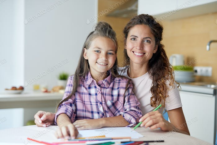 Drawing with mom