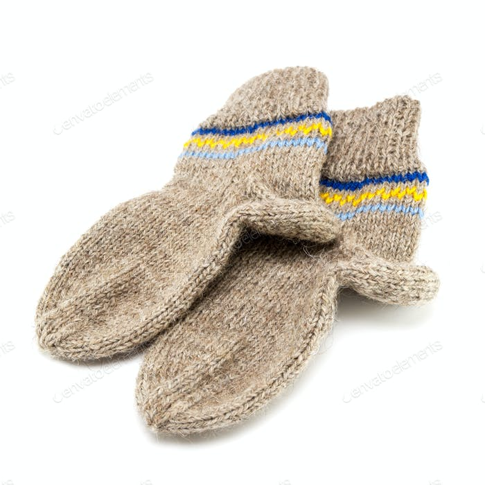 Wool socks crocheted