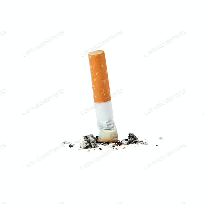 Extinguished cigarette.