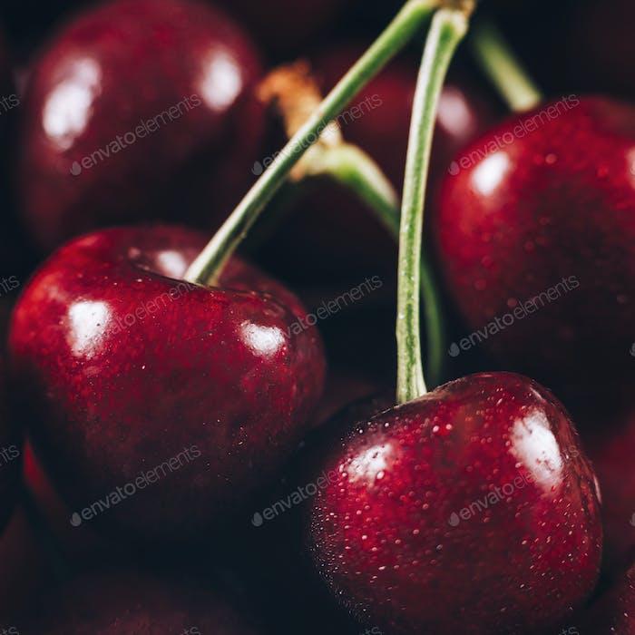 Cherries Macro Close Up