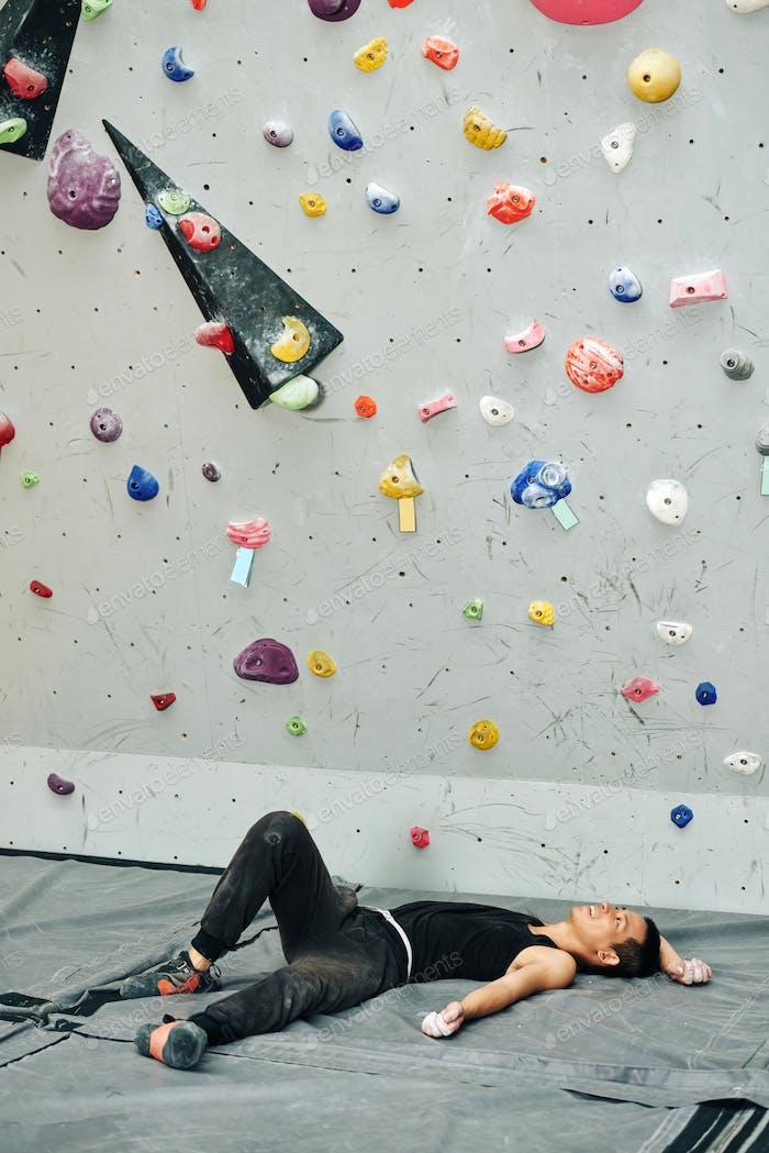 Resting climber