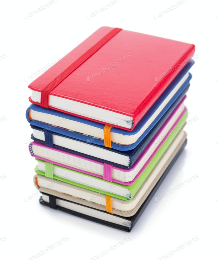 notebook or pad isolated at white